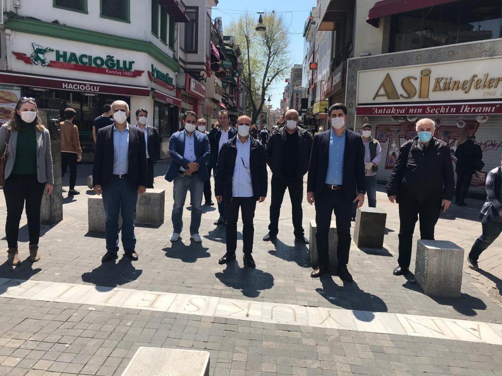 CHP 'den Kadıköy Tarihi Çarşımıza , zor günlerde anlamlı ziyaret