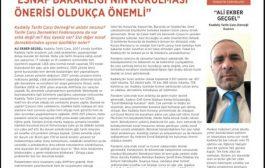 Dernek Başkanımız Ali Geçgel'in , tüm belediyelere dağıtımı yapılan Belediye Gazetesi'ndeki röportajı ses getirdi